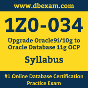 1Z0-034 Syllabus, 1Z0-034 Dumps PDF, Oracle OCP Dumps, 1Z0-034 Dumps Free Download PDF, Oracle Database OCP Dumps, 1Z0-034 Latest Dumps Free Download