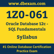 1Z0-061 Syllabus, 1Z0-061 Dumps PDF, Oracle OCA Dumps, 1Z0-061 Dumps Free Download PDF, Oracle Database OCA Dumps, 1Z0-061 Latest Dumps Free Download