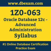 1Z0-063 Syllabus, 1Z0-063 Latest Dumps PDF, Oracle Database Advanced Administration Dumps, 1Z0-063 Free Download PDF Dumps, Database Advanced Administration Dumps