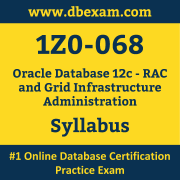 1Z0-068 Syllabus, 1Z0-068 Latest Dumps PDF, Oracle Database RAC and Grid Infrastructure Administration Dumps, 1Z0-068 Free Download PDF Dumps, Database RAC and Grid Infrastructure Administration Dumps