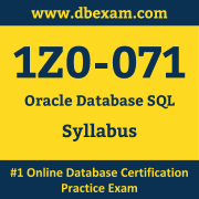 1Z0-071 Syllabus, 1Z0-071 Dumps PDF, Oracle OCA Dumps, 1Z0-071 Dumps Free Download PDF, SQL and PL/SQL OCA Dumps, 1Z0-071 Latest Dumps Free Download