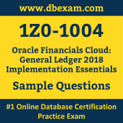 1Z0-1004 PDF, 1Z0-1004 Dumps PDF Free Download, 1Z0-1004 Latest Dumps Free PDF, Financials Cloud General Ledger Implementation Essentials PDF Dumps