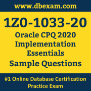 1Z0-1033-20 PDF, 1Z0-1033-20 Dumps PDF Free Download, 1Z0-1033-20 Latest Dumps Free PDF, CPQ Implementation Essentials PDF Dumps