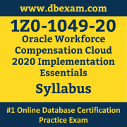 1Z0-1049-20 Syllabus, 1Z0-1049-20 Latest Dumps PDF, Oracle Workforce Compensation Cloud Implementation Essentials Dumps, 1Z0-1049-20 Free Download PDF Dumps, Workforce Compensation Cloud Implementation Essentials Dumps