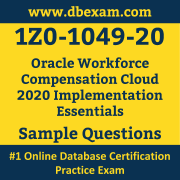 1Z0-1049-20 PDF, 1Z0-1049-20 Dumps PDF Free Download, 1Z0-1049-20 Latest Dumps Free PDF, Workforce Compensation Cloud Implementation Essentials PDF Dumps