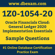 1Z0-1054-20 PDF, 1Z0-1054-20 Dumps PDF Free Download, 1Z0-1054-20 Latest Dumps Free PDF, Financials Cloud General Ledger Implementation Essentials PDF Dumps