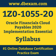 1Z0-1055-20 Syllabus, 1Z0-1055-20 Latest Dumps PDF, Oracle Financials Cloud Payables Implementation Essential Dumps, 1Z0-1055-20 Free Download PDF Dumps, Financials Cloud Payables Implementation Essential Dumps