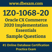 1Z0-1068-20 PDF, 1Z0-1068-20 Dumps PDF Free Download, 1Z0-1068-20 Latest Dumps Free PDF, CX Commerce Implementation Essentials PDF Dumps