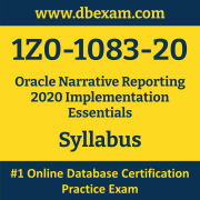 1Z0-1083-20 Syllabus, 1Z0-1083-20 Latest Dumps PDF, Oracle Narrative Reporting Implementation Essentials Dumps, 1Z0-1083-20 Free Download PDF Dumps, Narrative Reporting Implementation Essentials Dumps