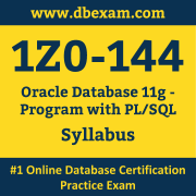 1Z0-144 Syllabus, 1Z0-144 Dumps PDF, Oracle OCA Dumps, 1Z0-144 Dumps Free Download PDF, Oracle Database OCA Dumps, 1Z0-144 Latest Dumps Free Download