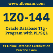 Oracle 1Z0-144 Certification Online Practice Exam and Sample