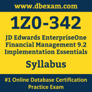 1Z0-342 Syllabus, 1Z0-342 Dumps PDF, Oracle OCS Dumps, 1Z0-342 Dumps Free Download PDF, JD Edwards EnterpriseOne Financial Management 9.2  OCS Dumps, 1Z0-342 Latest Dumps Free Download