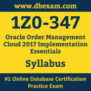 1Z0-347 Syllabus, 1Z0-347 Dumps PDF, Oracle OCS Dumps, 1Z0-347 Dumps Free Download PDF, Order Management Cloud OCS Dumps, 1Z0-347 Latest Dumps Free Download