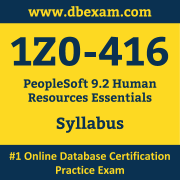 1Z0-416 Syllabus, 1Z0-416 Dumps PDF, Oracle OCS Dumps, 1Z0-416 Dumps Free Download PDF, PeopleSoft OCS Dumps, 1Z0-416 Latest Dumps Free Download