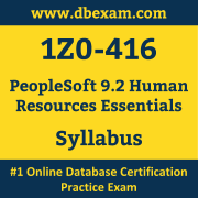 1Z0-416 Syllabus, 1Z0-416 Latest Dumps PDF, Oracle PeopleSoft Human Resources Essentials Dumps, 1Z0-416 Free Download PDF Dumps, PeopleSoft Human Resources Essentials Dumps