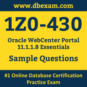Free Oracle 1Z0-430 Certification Sample Questions and