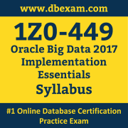 1Z0-449 Syllabus, 1Z0-449 Dumps PDF, Oracle OCS Dumps, 1Z0-449 Dumps Free Download PDF, Oracle Big Data X4-2 OCS Dumps, 1Z0-449 Latest Dumps Free Download