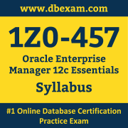 1Z0-457 Syllabus, 1Z0-457 Dumps PDF, Oracle OCS Dumps, 1Z0-457 Dumps Free Download PDF, Oracle Enterprise Manager OCS Dumps, 1Z0-457 Latest Dumps Free Download