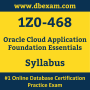 1Z0-468 Syllabus, 1Z0-468 Latest Dumps PDF, Oracle Cloud Application Foundation Essentials Dumps, 1Z0-468 Free Download PDF Dumps, Cloud Application Foundation Essentials Dumps