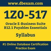 1Z0-517 Syllabus, 1Z0-517 Dumps PDF, Oracle OCS Dumps, 1Z0-517 Dumps Free Download PDF, E-Business Suite OCS Dumps, 1Z0-517 Latest Dumps Free Download