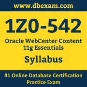 1Z0-542 Syllabus, 1Z0-542 Dumps PDF, Oracle OCS Dumps, 1Z0-542 Dumps Free Download PDF, WebCenter OCS Dumps, 1Z0-542 Latest Dumps Free Download