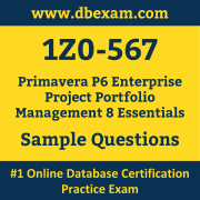 1Z0-567 PDF, 1Z0-567 Dumps PDF Free Download, 1Z0-567 Latest Dumps Free PDF, Primavera Enterprise Project Portfolio Management Essentials PDF Dumps