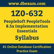 1Z0-632 Syllabus, 1Z0-632 Latest Dumps PDF, Oracle PeopleSoft PeopleTools Implementation Essentials Dumps, 1Z0-632 Free Download PDF Dumps, PeopleSoft PeopleTools Implementation Essentials Dumps