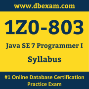 1Z0-803 Syllabus, 1Z0-803 Dumps PDF, Oracle OCA Dumps, 1Z0-803 Dumps Free Download PDF, Java OCA Dumps, 1Z0-803 Latest Dumps Free Download