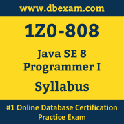 1Z0-808 Syllabus, 1Z0-808 Latest Dumps PDF, Oracle Java SE Programmer I Dumps, 1Z0-808 Free Download PDF Dumps, Java SE Programmer I Dumps