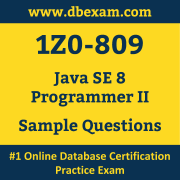 1Z0-809 PDF, 1Z0-809 Dumps PDF Free Download, 1Z0-809 Latest Dumps Free PDF, Java SE Programmer II PDF Dumps