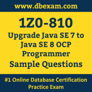 1Z0-810 PDF, 1Z0-810 Dumps PDF Free Download, 1Z0-810 Latest Dumps Free PDF, Upgrade Java SE Programmer PDF Dumps