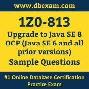 1Z0-813 PDF, 1Z0-813 Dumps PDF Free Download, 1Z0-813 Latest Dumps Free PDF, Upgrade Java SE OCP PDF Dumps
