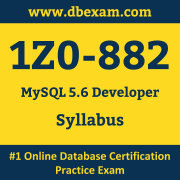 Oracle MySQL 5 6 Developer (1Z0-882) Certification Cost and Syllabus