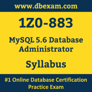 1Z0-883 Syllabus, 1Z0-883 Latest Dumps PDF, Oracle MySQL Database Administrator Dumps, 1Z0-883 Free Download PDF Dumps, MySQL Database Administrator Dumps