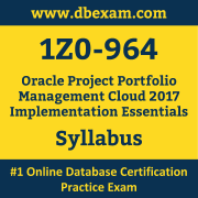 1Z0-964 Syllabus, 1Z0-964 Latest Dumps PDF, Oracle Project Portfolio Management Cloud Implementation Essentials Dumps, 1Z0-964 Free Download PDF Dumps, Project Portfolio Management Cloud Implementation Essentials Dumps