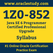 1Z0-852 Syllabus, 1Z0-852 Dumps PDF, Oracle OCP Dumps, 1Z0-852 Dumps Free Download PDF, Java OCP Dumps, 1Z0-852 Latest Dumps Free Download