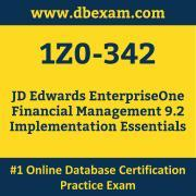 1Z0-342: JD Edwards EnterpriseOne Financial Management 9.2 Implementation Essent